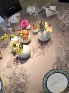 素敵なテーブルコーディネートでした♪  @サロンドボーテタカハシ(大田区)